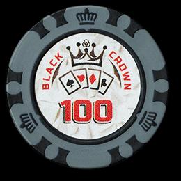 Фишка для покера Black Crown номиналом 100