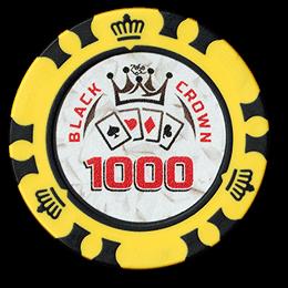 Фишка для покера Black Crown номиналом 1000