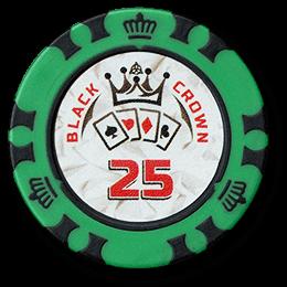 Фишка для покера Black Crown номиналом 25