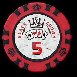 Фишка для покера Black Crown номиналом 5