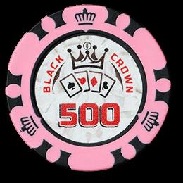 Фишка для покера Black Crown номиналом 500