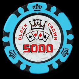 Фишка для покера Black Crown номиналом 5000