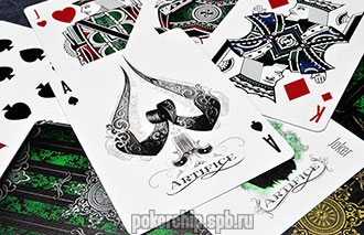 Игральные карты Ellusionist Artifice Emerald Green Deck
