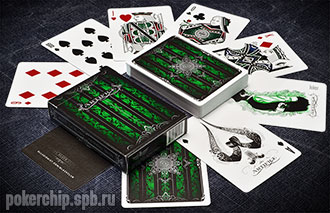 Колода карт Ellusionist Artifice Emerald Green Deck